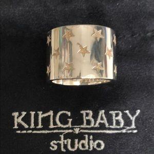 Men's Unisex King Baby Studios Stars wide bandring